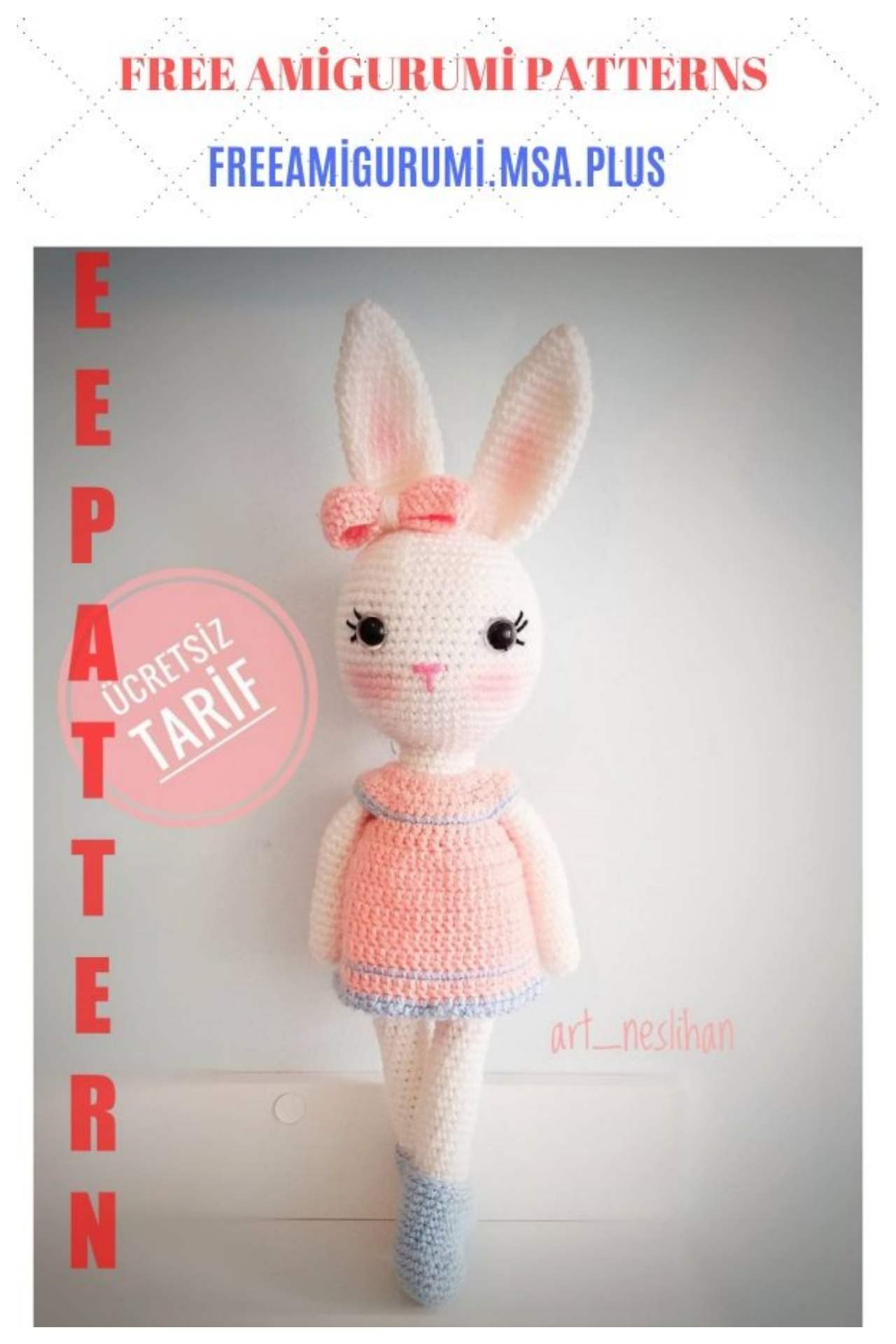 Floppy bunny - Free amigurumi pattern | 1920x1280
