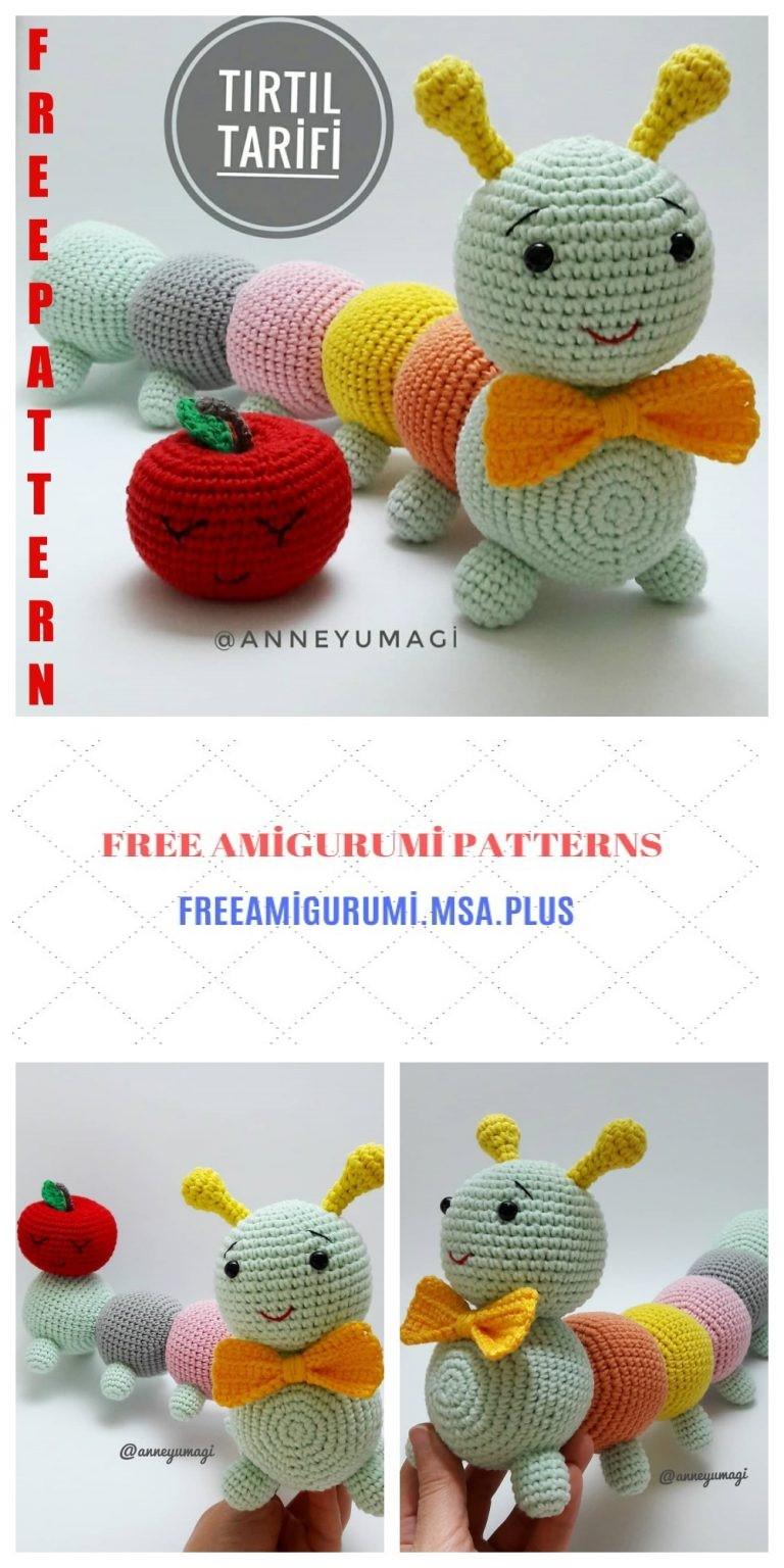 The Cuddly Caterpillar - A Free Amigurumi Crochet Pattern - Grace ... | 1536x768
