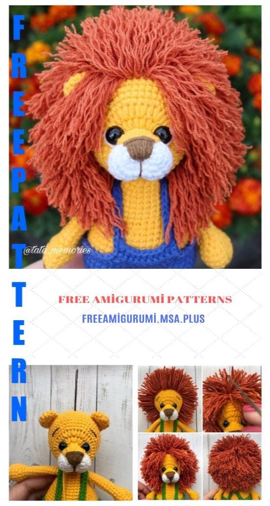 Amigurumi Lion Free Pattern | 1024x547