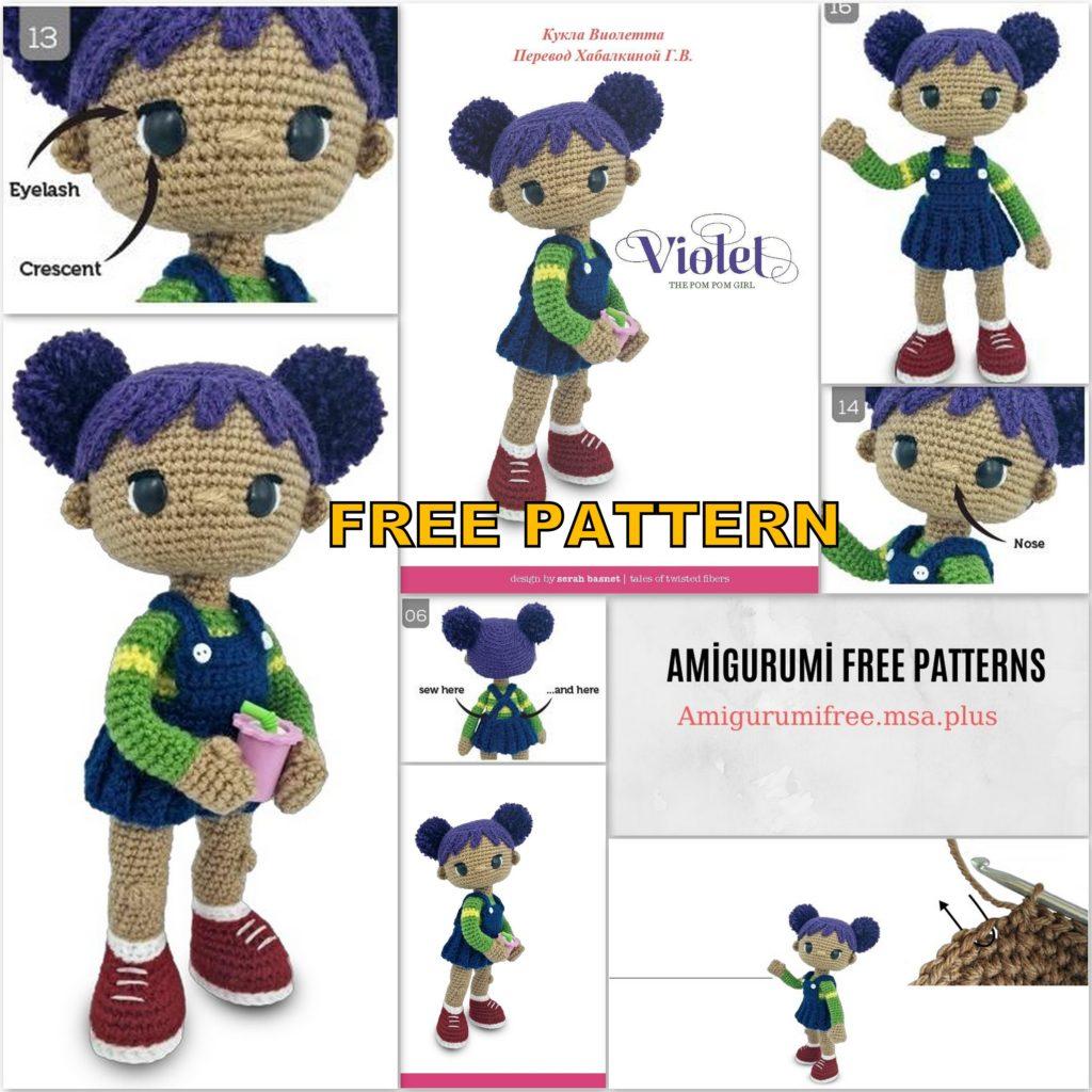 Amigurumi Doll Violet Free Crochet Pattern