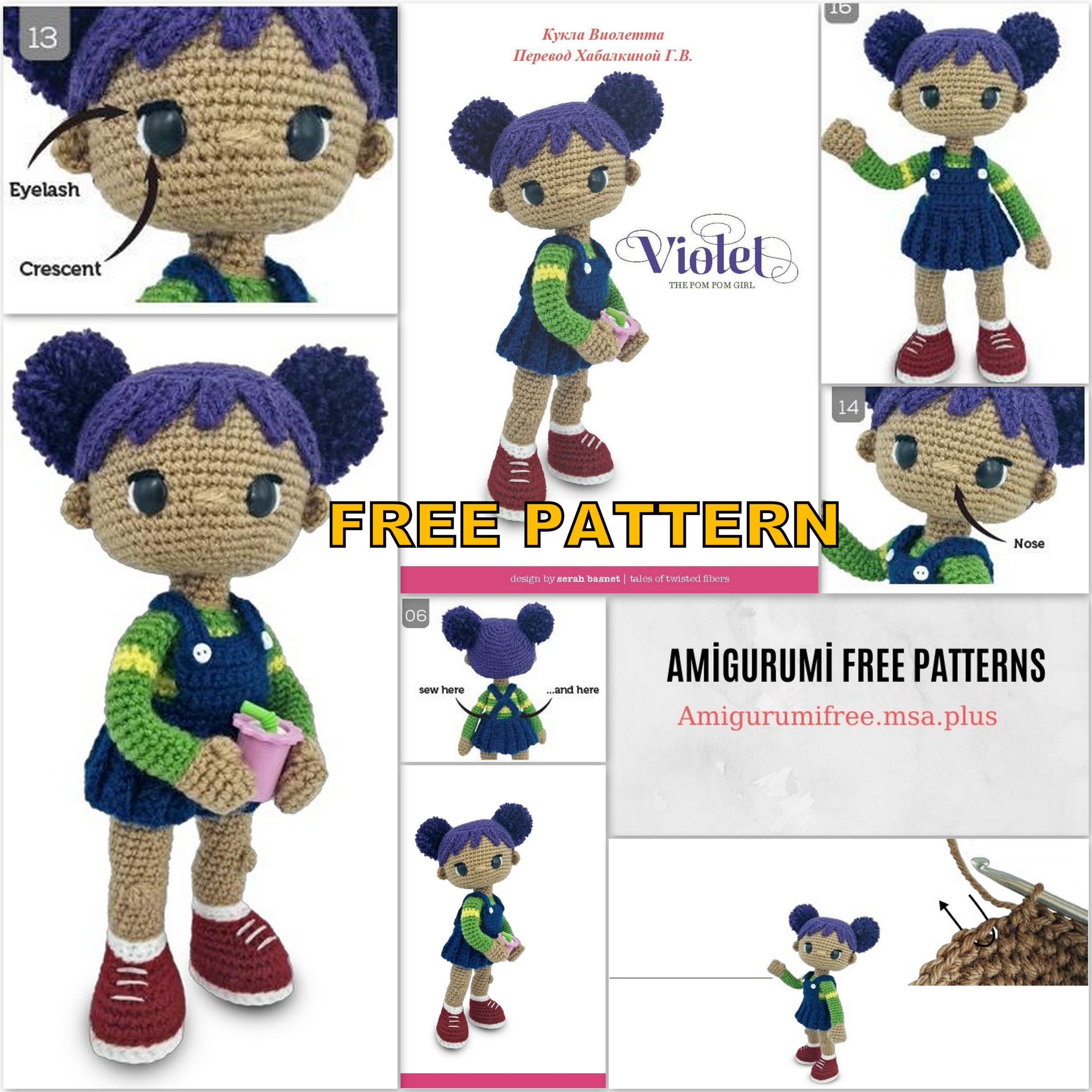 Amy the Amigurumi Doll - A Free Crochet Pattern - Grace and Yarn | 2560x2560