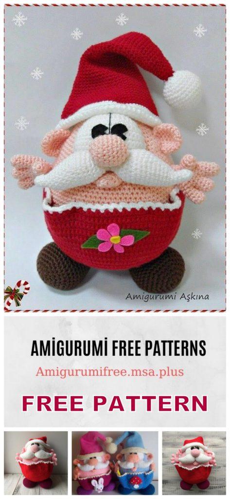 Amigurumi Gnome Free Crochet Pattern | Christmas crochet patterns ... | 1024x473