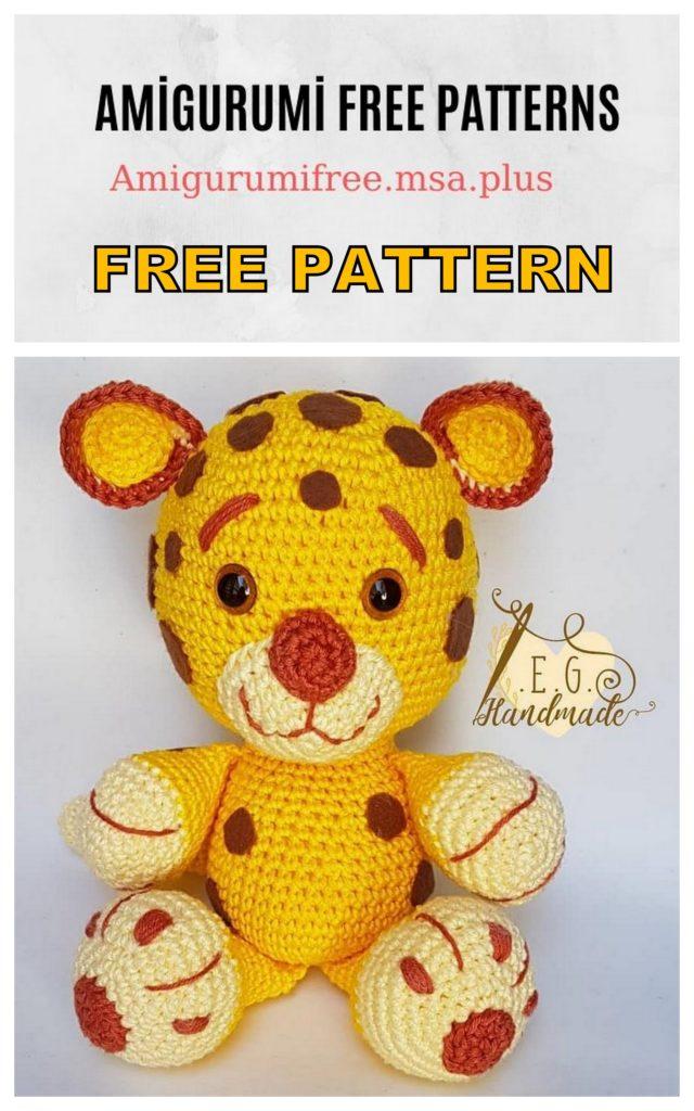 Amigurumi Leopard Free Crochet Pattern