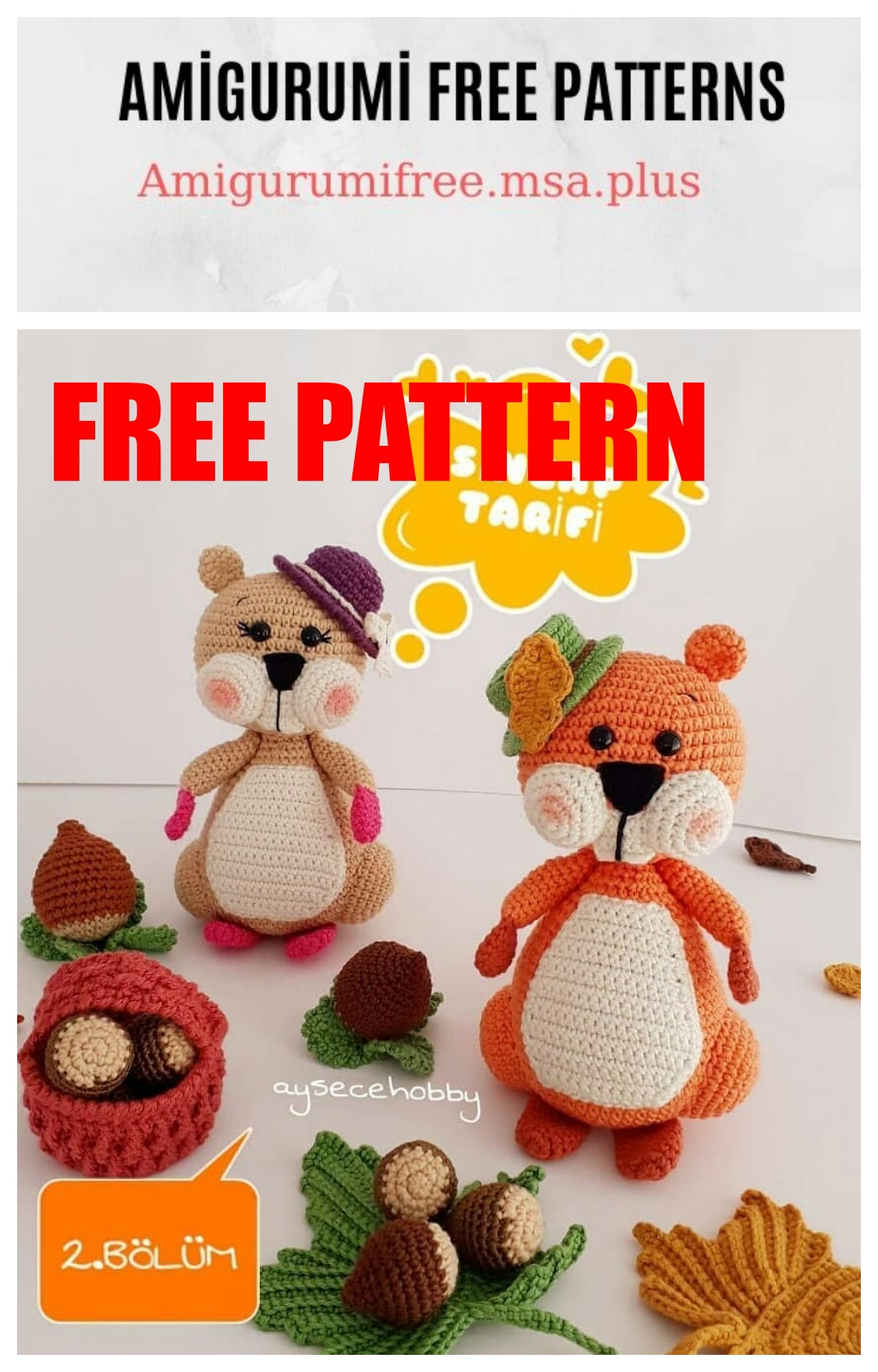 9 Adorable Free Squirrel Crochet Patterns | Crochet, Crochet ... | 1600x1024
