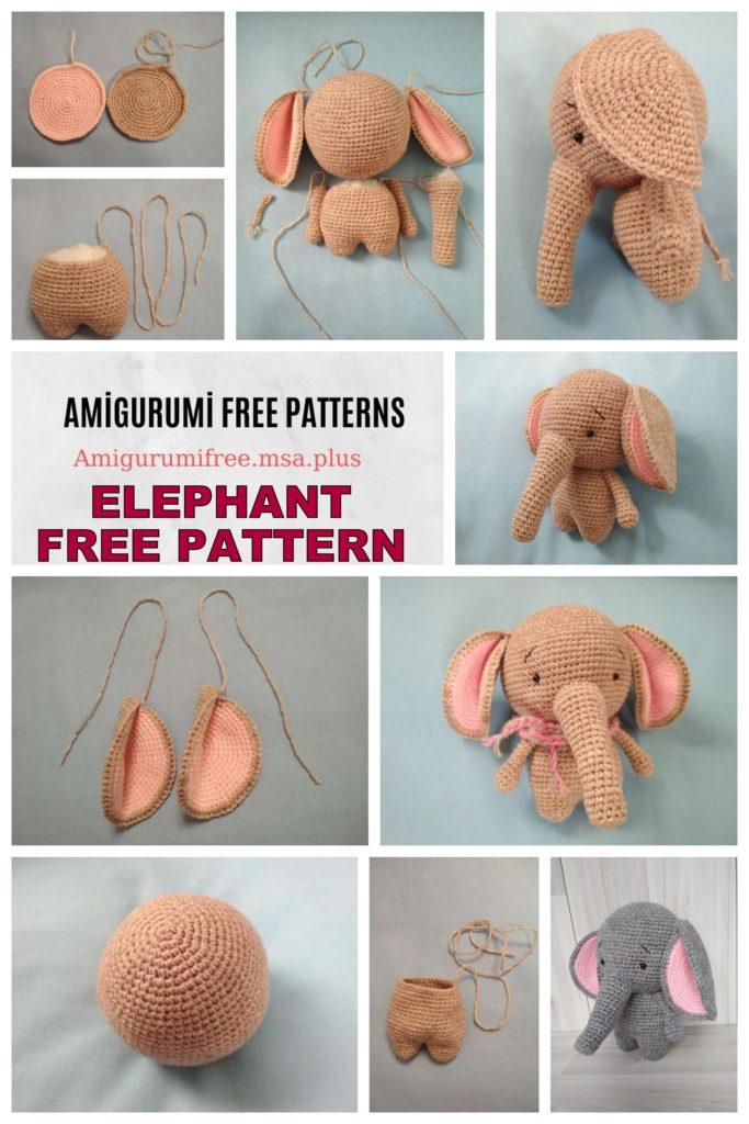 Amigurumi Little Elephant Free Crochet Pattern