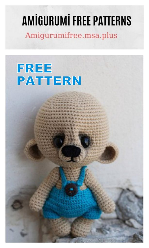 Amigurumi Hat Teddy Bear Free Crochet Pattern