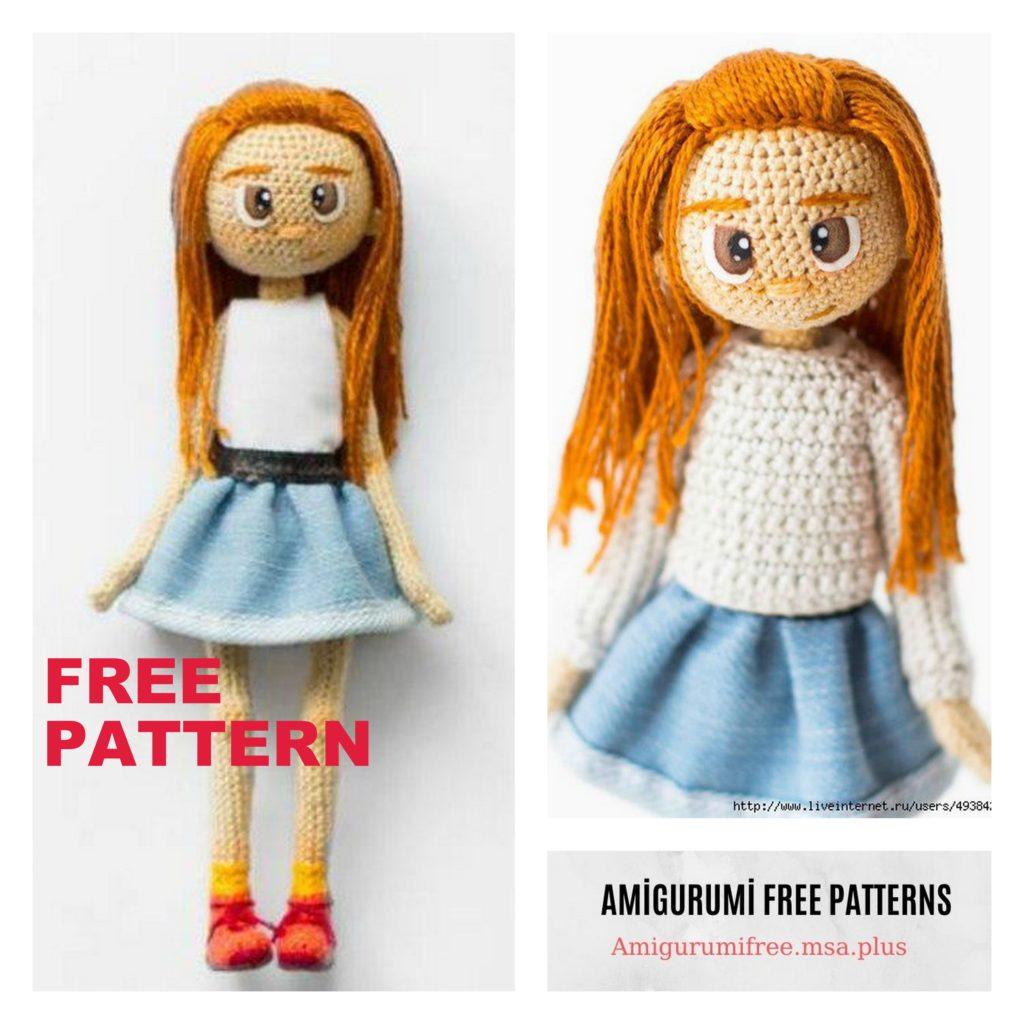 Sweet Girl Amigurumi Doll Free Crochet Pattern