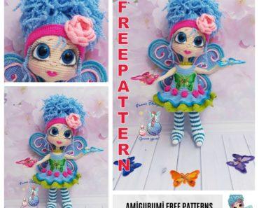 Butterfly Amigurumi - Free Crochet Pattern Loops & Love Crochet | 297x370