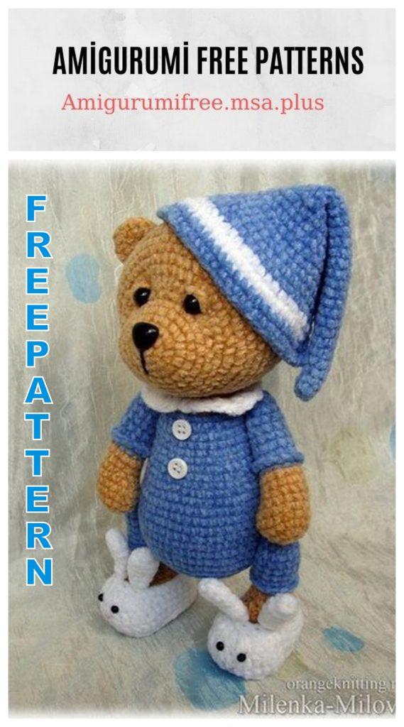 Amigurumi Teddy Bear Sonia Free Crochet Pattern