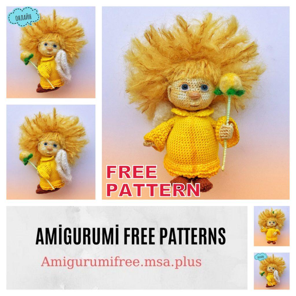Amigurumi Yellow Angel Free Crochet Pattern