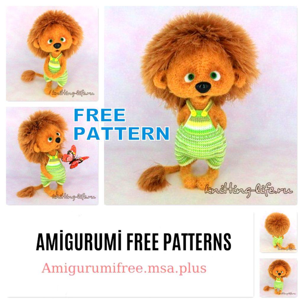Amigurumi Little Lion Free Crochet Pattern
