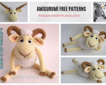 Amigurumi Cute Sheep Free Pattern - Crochet.msa.plus | 297x370