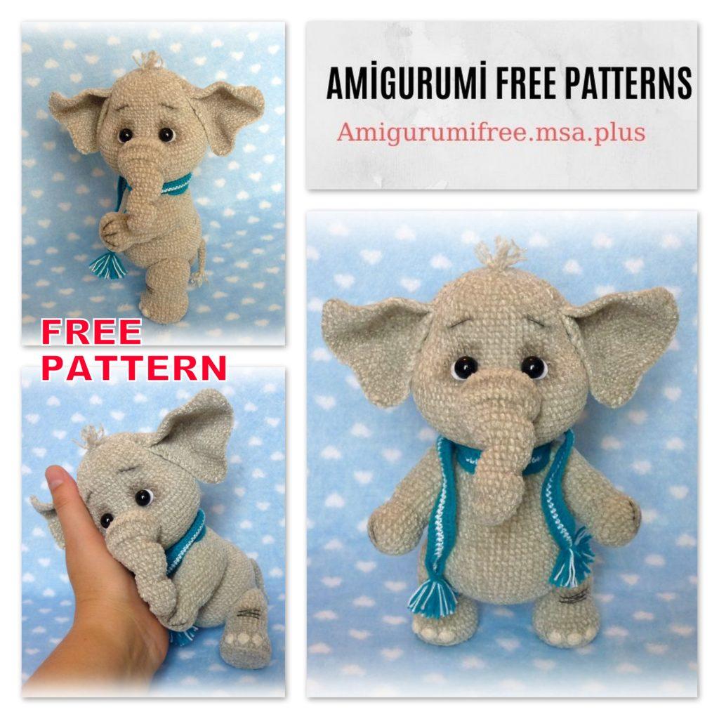 Amigurumi Little Cute Elephant Free Crochet Pattern