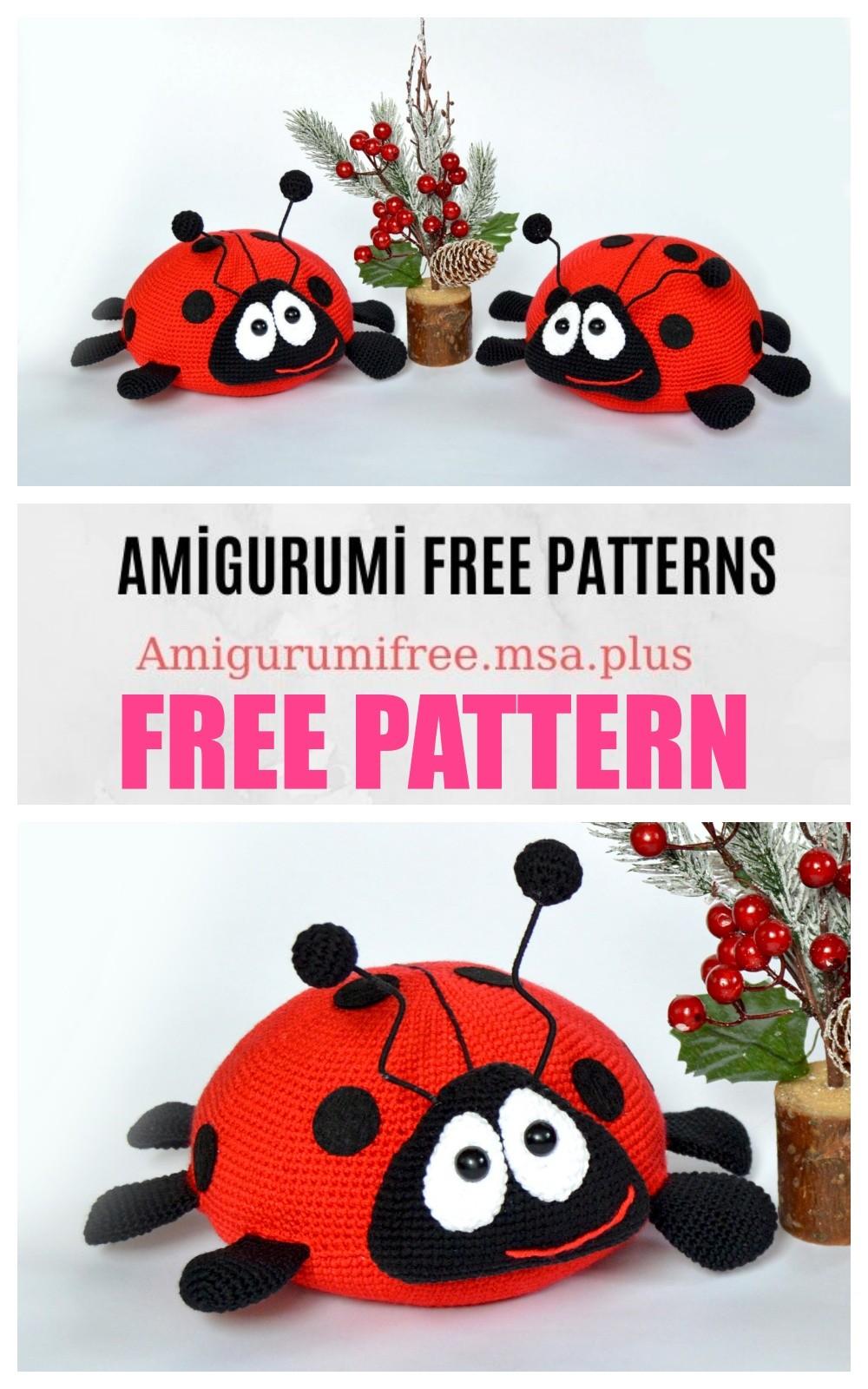 Jadybug the Ladybug amigurumi pattern - Amigurumipatterns.net   1600x1000