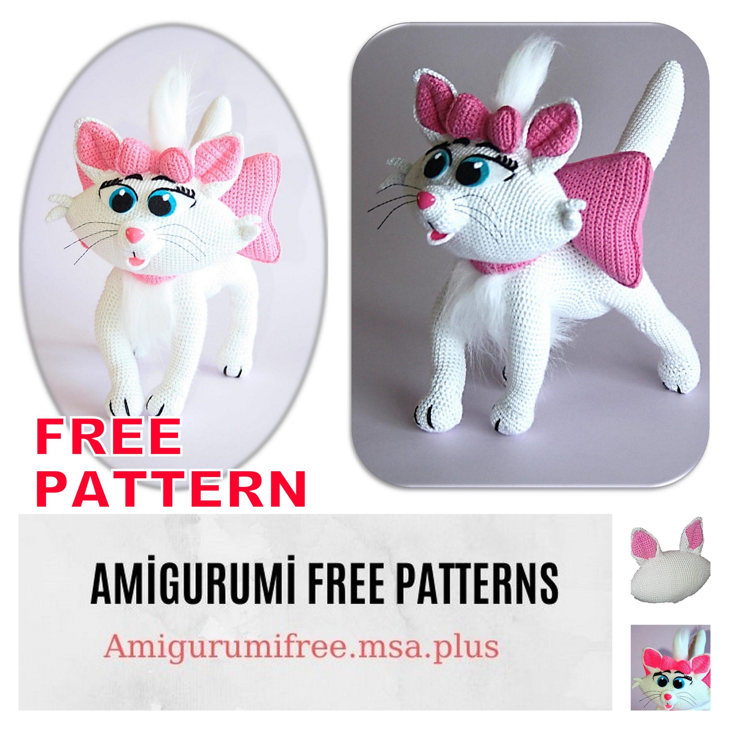 Free Playing Cats Crochet Amigurumi Pattern - Little Bear Crochets | 2560x2560