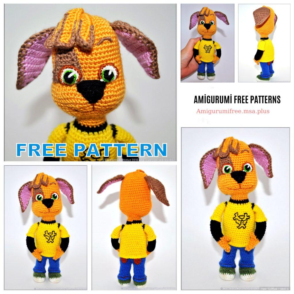 Amigurumi Dog Barboskin Free Crochet Pattern