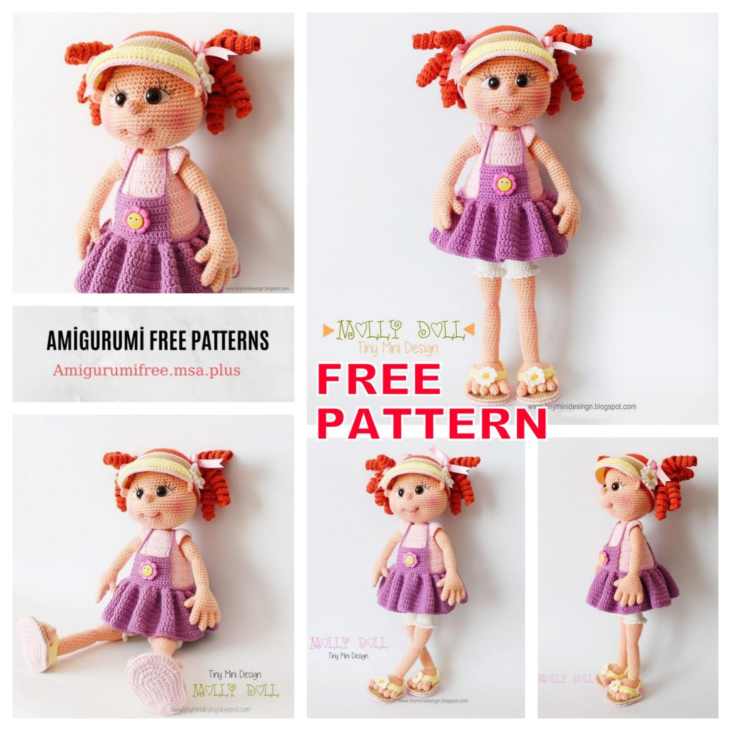 Molly Doll Amigurumi Free Crochet Pattern | 1024x1024