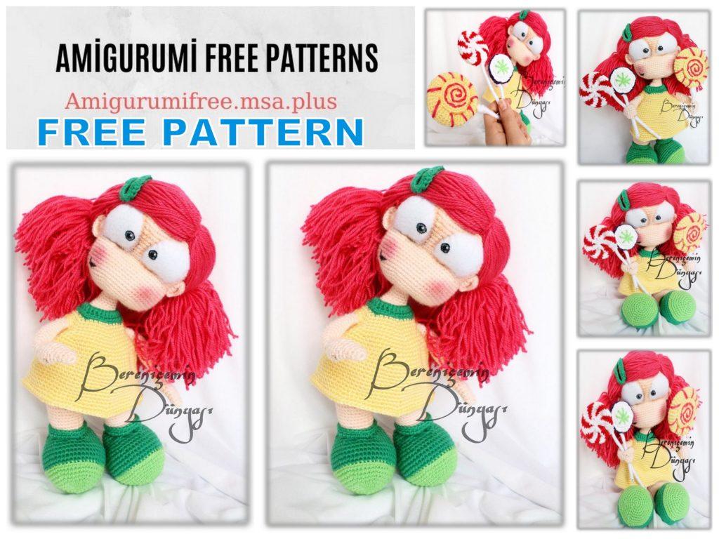 Amigurumi Candy Girl Free Crochet Pattern