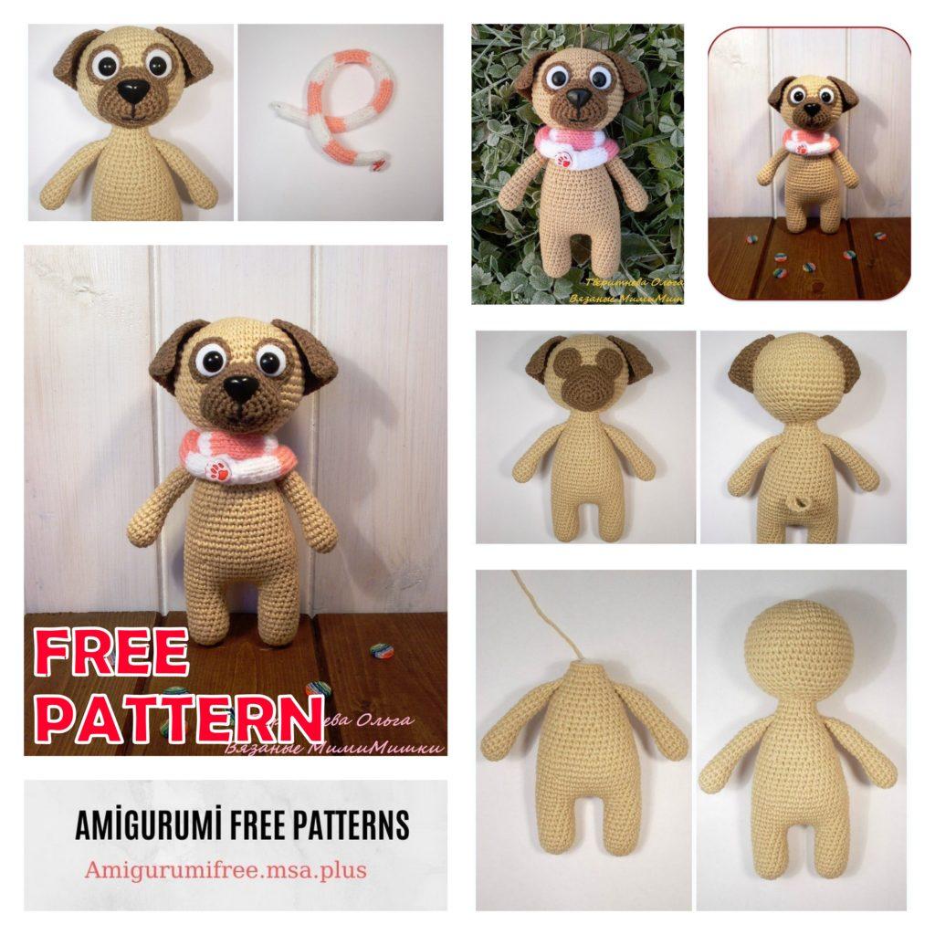 Cute Pug Dog Amigurumi Free Crochet Pattern