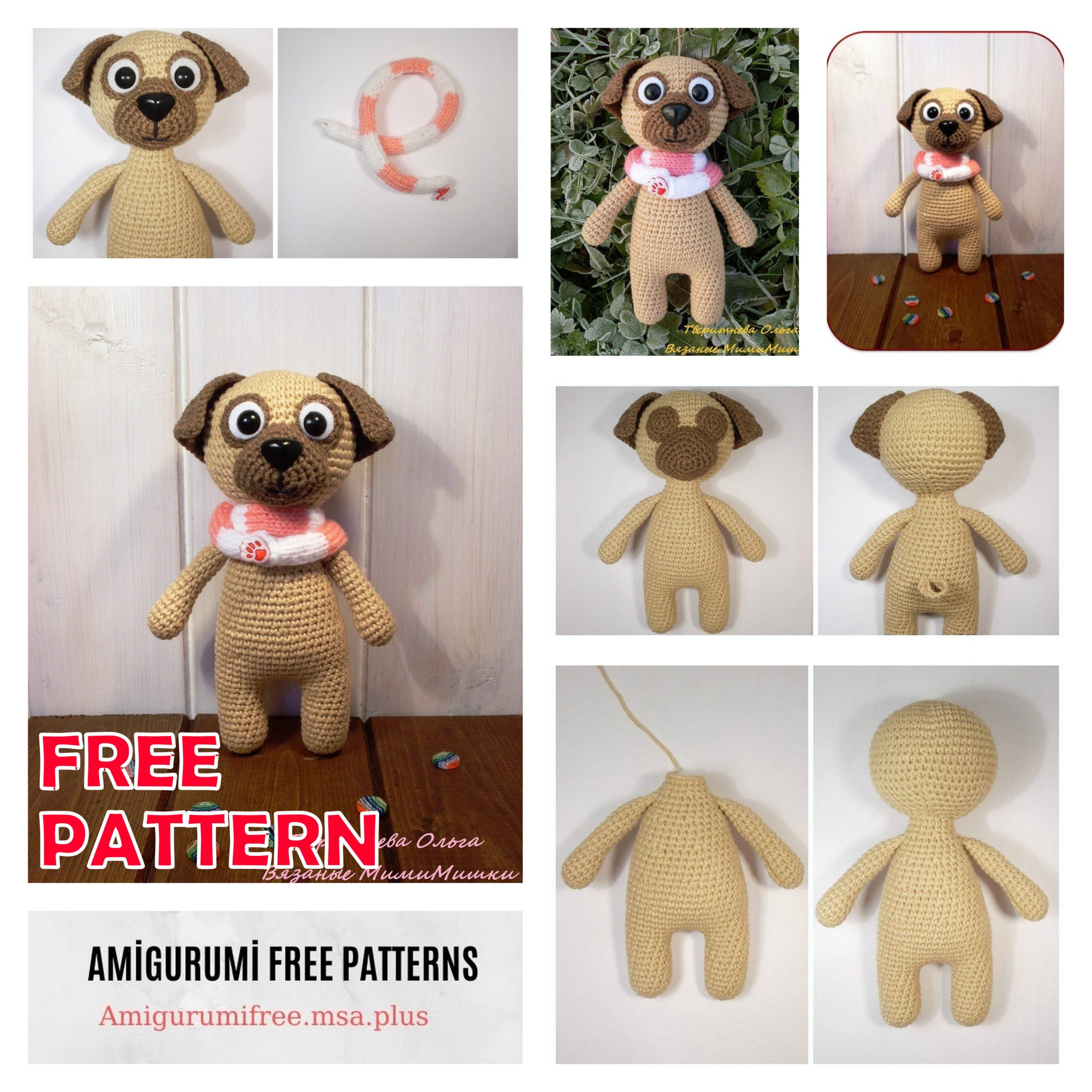 Pug Puppy Amigurumi Pattern (Crochet Pattern Books) (English ... | 2560x2560