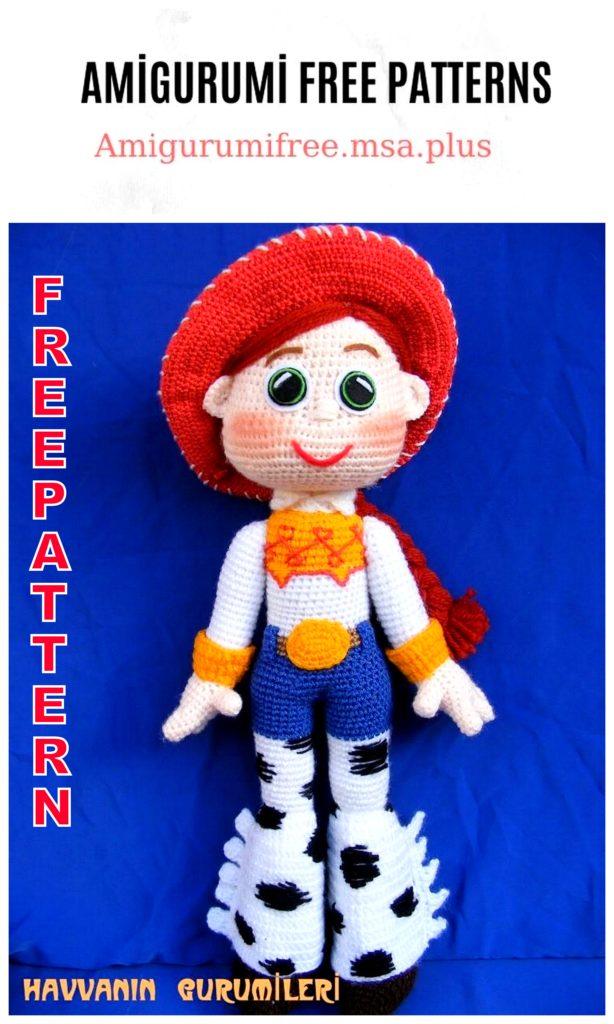 Amigurumi Cowgirl Free Crochet Pattern