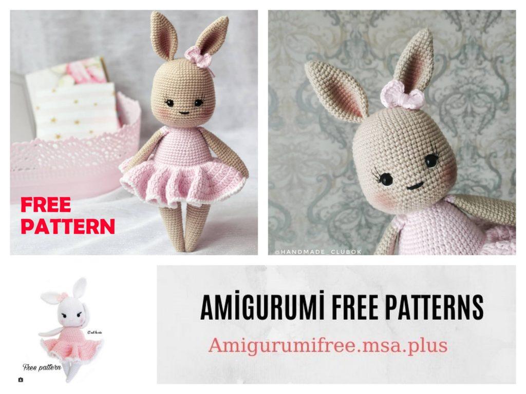 Amigurumi Ballerina Bunny Free Crochet Pattern