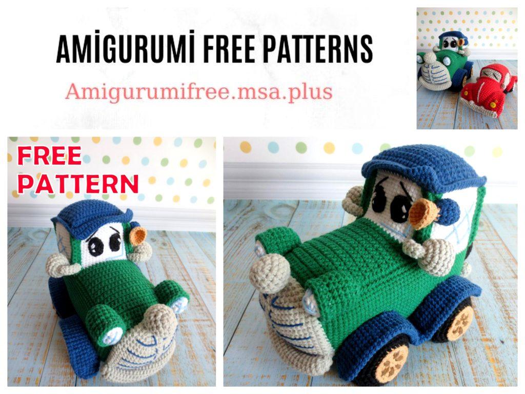 Amigurumi Car Toy Free Crochet Patterns | Crochet toys free ... | 768x1024