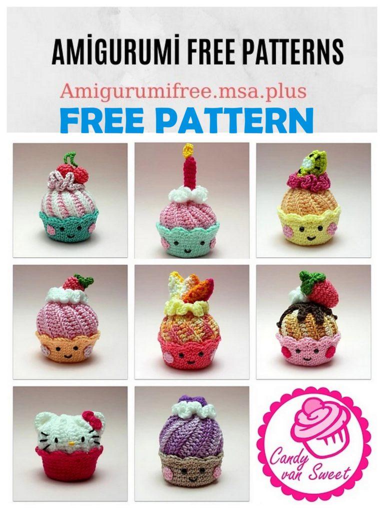 Amigurumi Cupcake Free Crochet Pattern