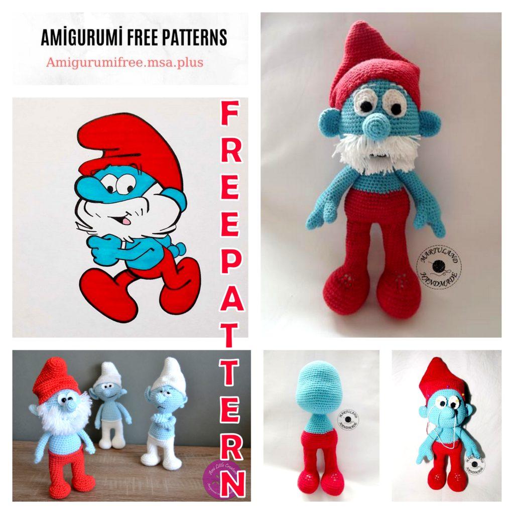 Amigurumi Papa Smerf Free Crochet Pattern