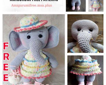 Elephant Crochet Patterns – Cute Toys - A More Crafty Life | 297x370