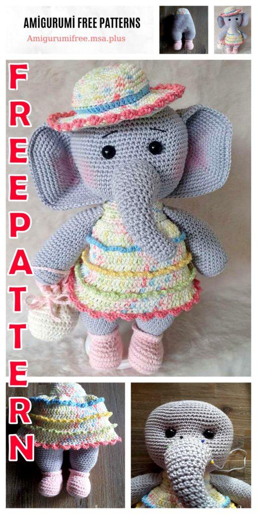 Crochet Elephant Amigurumi Easy Video Instructions | 1024x512
