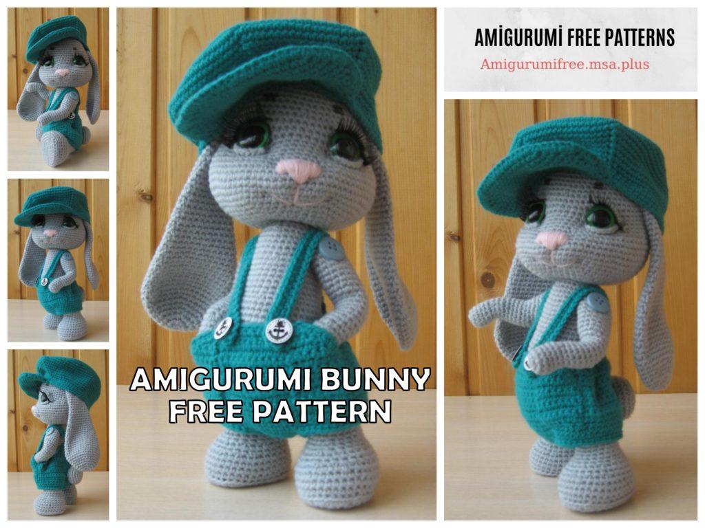 Amigurumi Rowdy Bunny Free Crochet Pattern