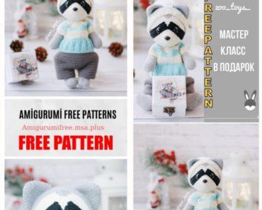 149 Crochet Pattern - Raccoon - Amigurumi soft toy PDF file by Ogol CP | 297x370