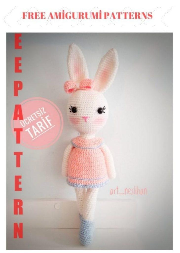 Amigurumi Bunny Girl Free Crochet Pattern