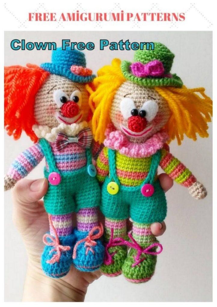 Amigurumi Clown Free Crochet English Pattern