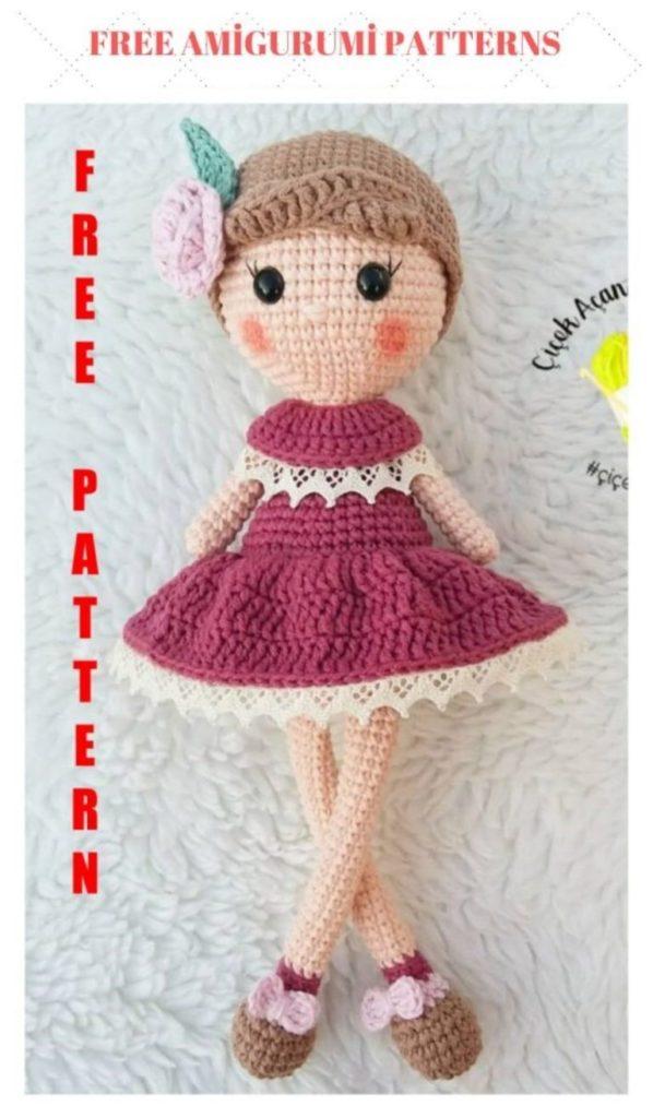 Amigurumi Doll Gülcan Free Crochet Pattern