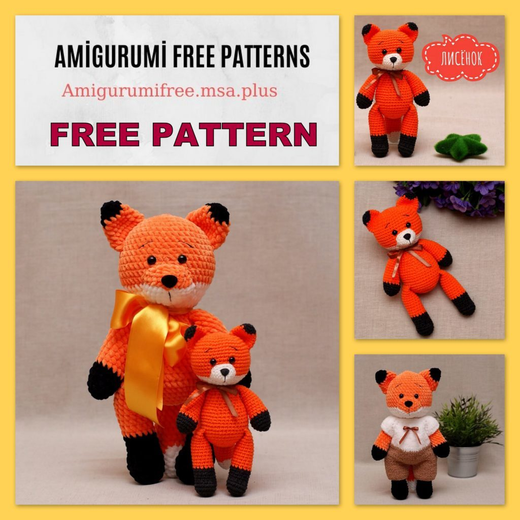 Amigurumi Cute Fox Free Crochet Pattern