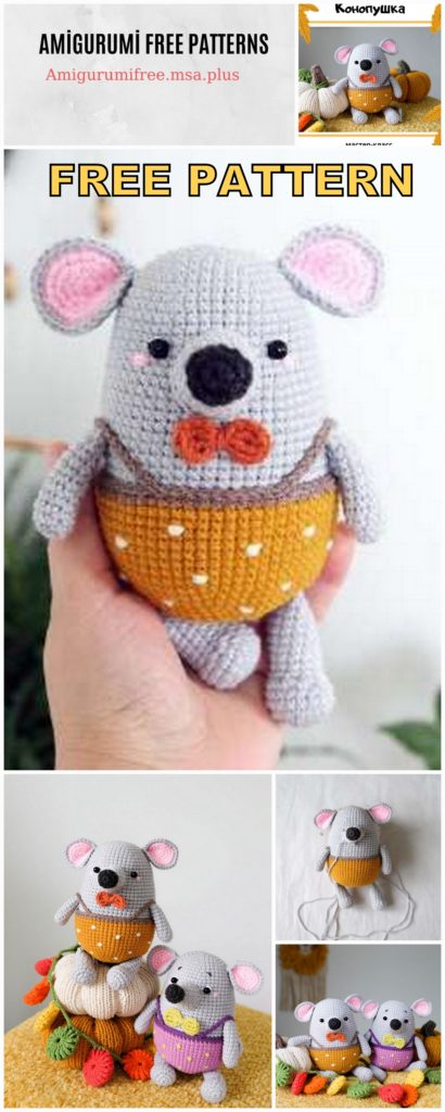 Cute Mouse Amigurumi Free Crochet Pattern
