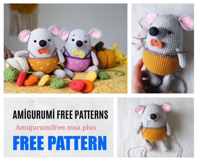Cute Mouse Amigurumi Free Crochet Pattern