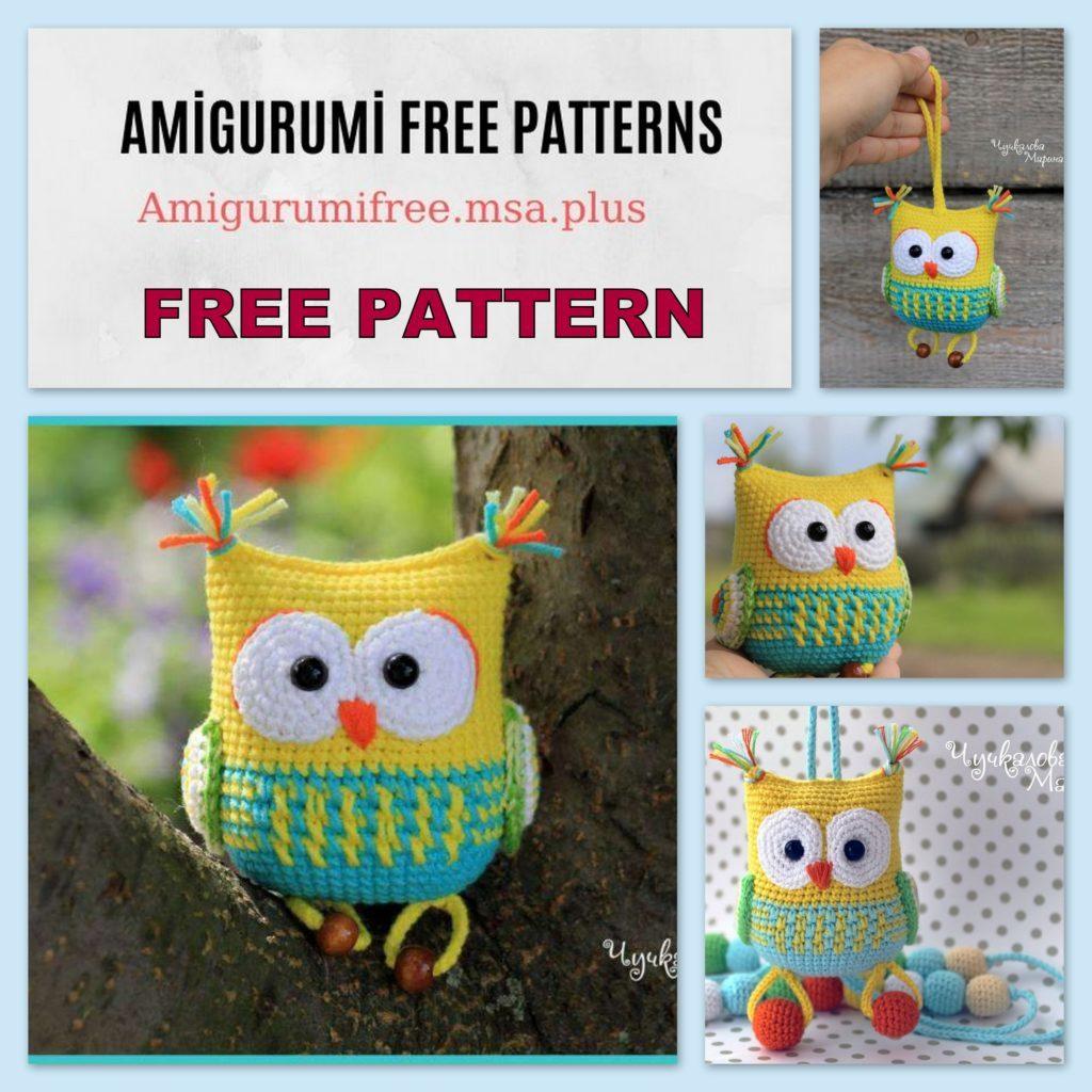 Amigurumi Cute Owl Free Crochet Pattern