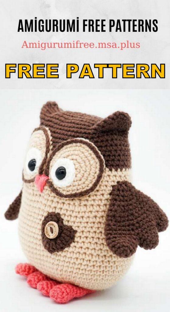 Cute Owl Amigurumi Free Pattern