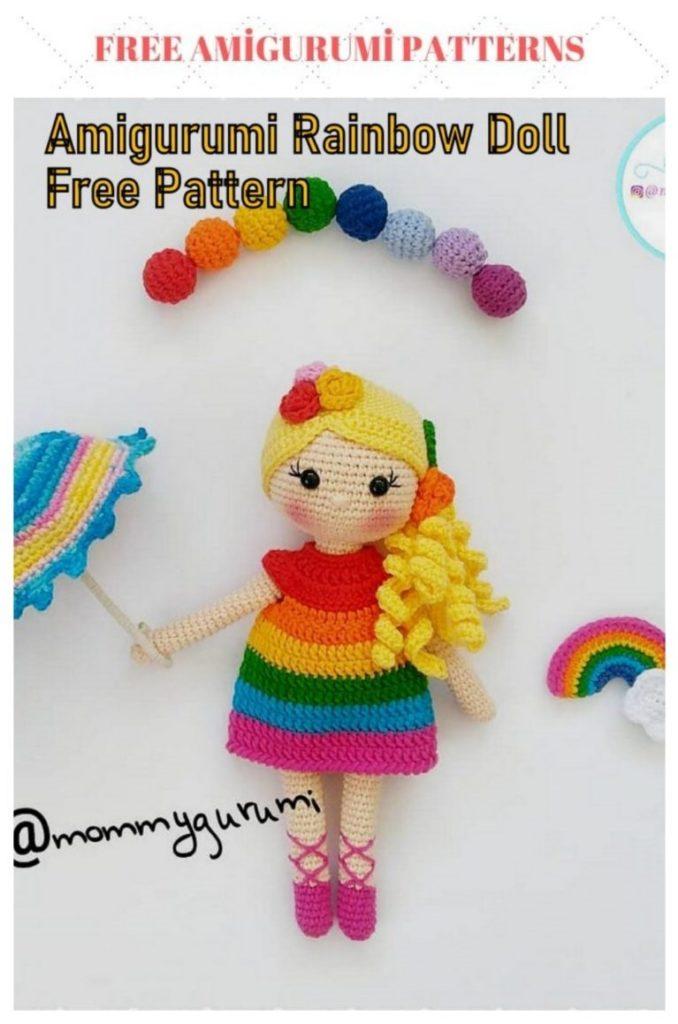 Amigurumi Rainbow Doll Free Crochet Pattern