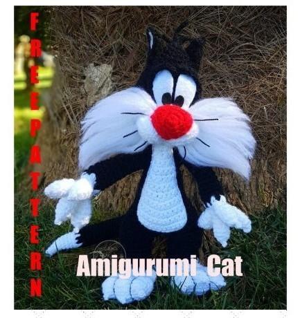 Cat Sylvester Amigurumi Free Crochet Pattern