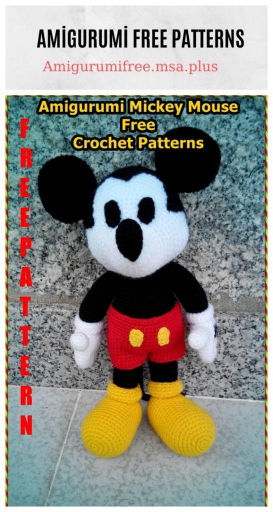 Amigurumi Mickey Mouse Free Crochet Pattern